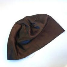 Chocolate Satin Sew-in Hat Lining